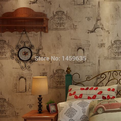 eiffel tower wallpaper for bedroom compare prices on french wall paper online shopping buy