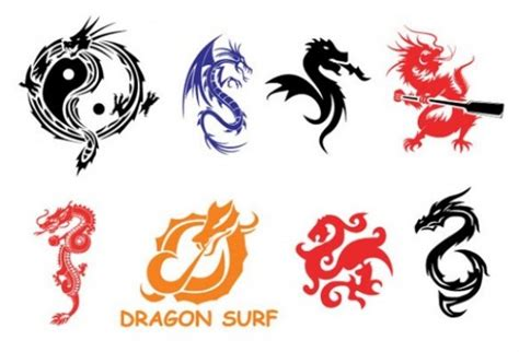 tattoo logo free food chinese dragon and phenix in red cycle download free