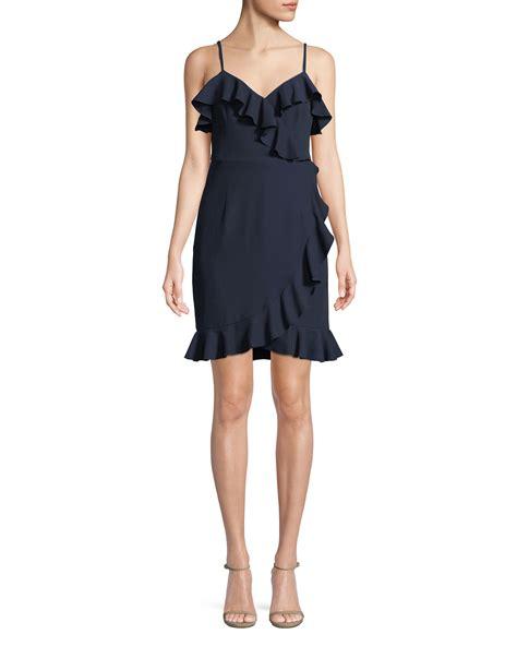 Ruffle Trim Sleeveless Dress reese ruffle trim sleeveless dress neiman