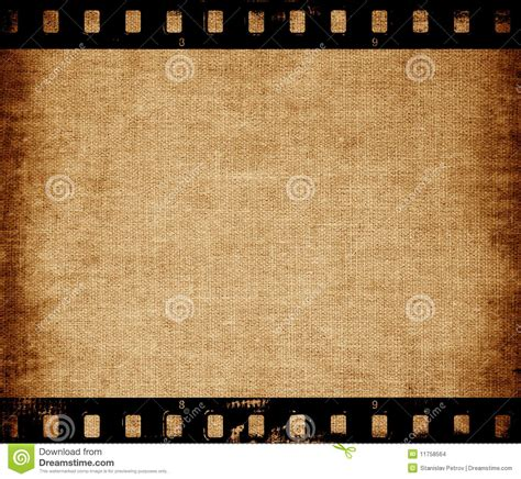 aged wallpaper with film strip border stock illustration aged canvas texture with film strip border stock