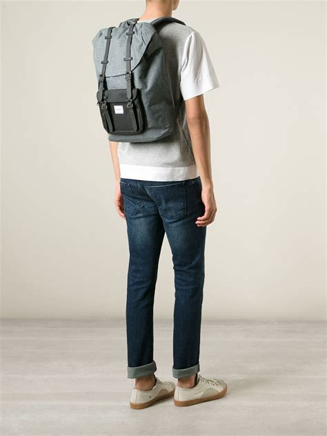 Small Bungalow Herschel Supply Co Little America Backpack In Gray Lyst