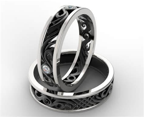 Tungsten Wedding Bands With Diamonds