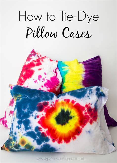 How To Tie Dye Pillow Cases by Tie Dyed Pillow Cases