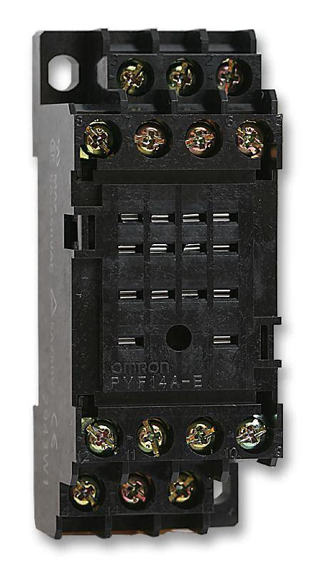 pyfae omron relay socket din rail screw farnell