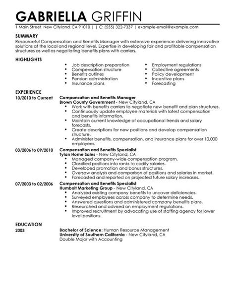 Resume Summary Statement Human Resources 10 Benefits Specialist Resume Sle Resume Benefits Specialist Resume Cover Letter Benefits