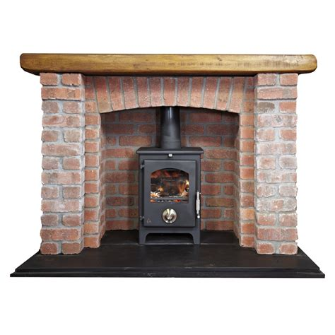 Hearth Bricks For Fireplaces by Brick Fireplace With Log Burner Types Of Fireplaces In