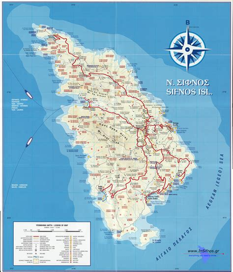 pictures of maps sifnos map of sifnos