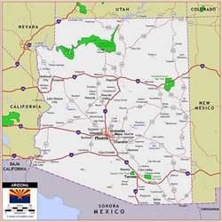 arizona road map with mileage state of arizona
