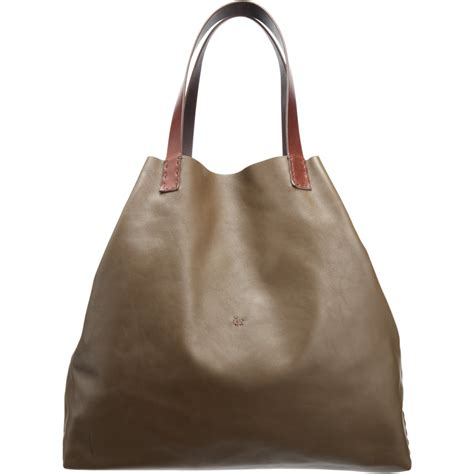 Henry Cuir Metro Tote by Lyst Henry Cuir Eastwest Tote In Brown