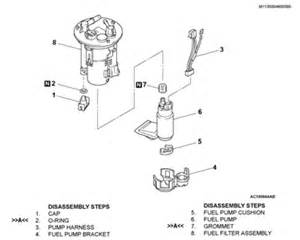 2003 Mitsubishi Galant Fuel Filter Solved Fuel Filter Location For 2003 Galant Es Fixya