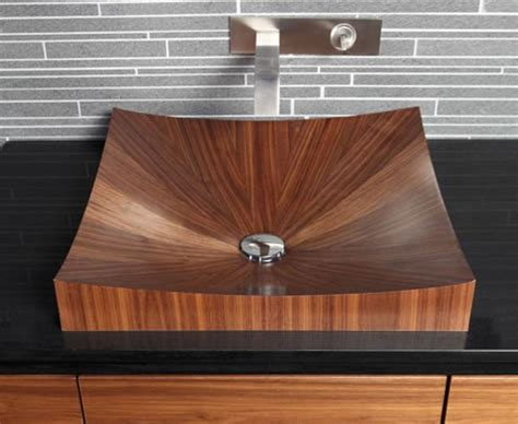 wood bathroom sink 10 dashingly natural wooden bathroom sinks rilane