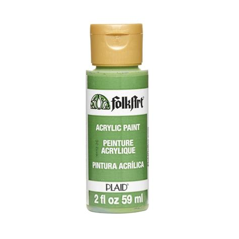 folkart 2 oz olive green acrylic craft paint ja449 the home depot