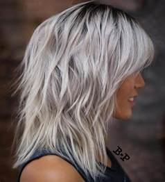 shag haircut brown hair with lavender grey streaks 22 cool shag hairstyles for fine hair 2018 2019