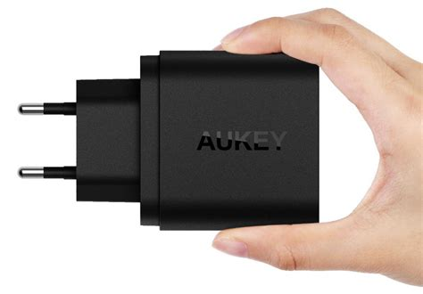 Charger Usb 2 Port Eu 36w Pengisian Cepat Aukey Pa T16 aukey usb wall charger 2 port eu 36w with qualcomm charge 3 0 pa t16 black
