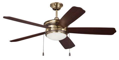 Lighting Direct Ceiling Fans by Ellington Fans Aby52lb5 Legacy Brass 52 Quot 5 Blade