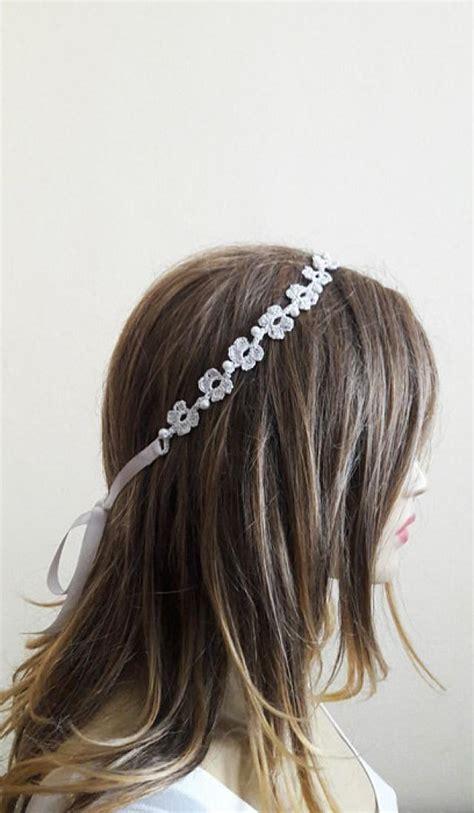 Handmade Headband Ideas - crochet headband wedding accessory handmade headbands