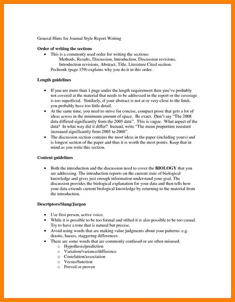 how to write a report sle template sle business report writing format template report