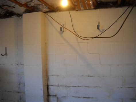 bowing basement wall repair baker s waterproofing foundation repair photo album signs of bowing basement walls