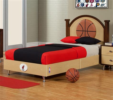 basketball bed set dreamfurniture com nba basketball miami heat twin bed