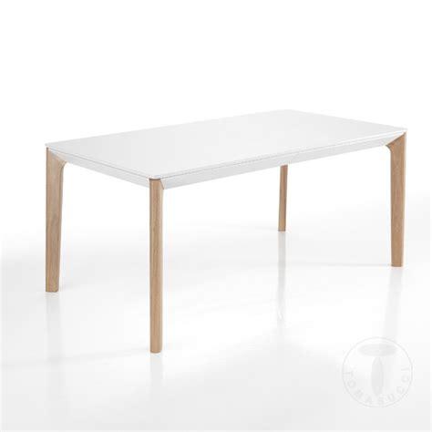 tavolo moderno bianco tavolo da pranzo allungabile bicolore moderno con piano