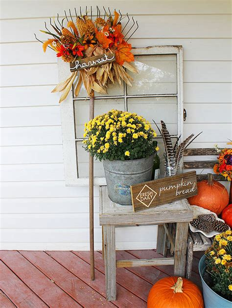 pretty front entry decorating ideas  fall
