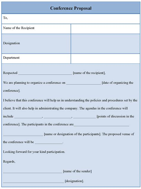 proposal template for conference exle of conference