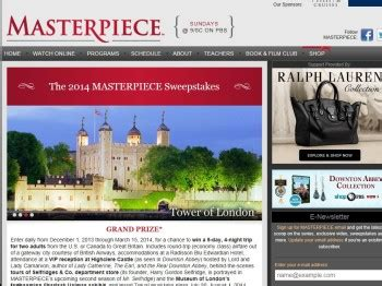 Pbs Masterpiece Sweepstakes - pbs 2014 masterpiece sweepstakes sweepstakes fanatics
