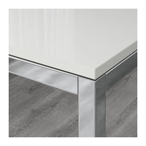 torsby table chrome plated high gloss white 135x85 cm ikea