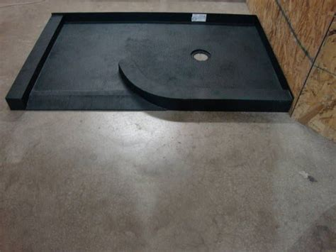 made custom ready for tile shower base for curved