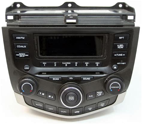 1995 honda accord radio removal honda accord 2003 factory stereo 6 disc changer cd player oem radio with auto climate