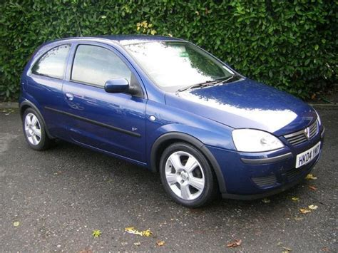 opel corsa 2004 blue used vauxhall corsa 2004 petrol 1 2i 16v energy 3dr