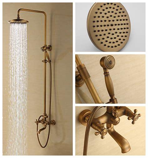 Rain Shower Faucets Antique Brass Tub Shower Faucet With 8