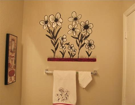 creative painting bathroom wall home interiors