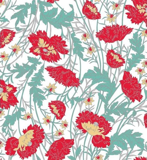 hand painted flower pattern handpainted flower pattern background vector free vector