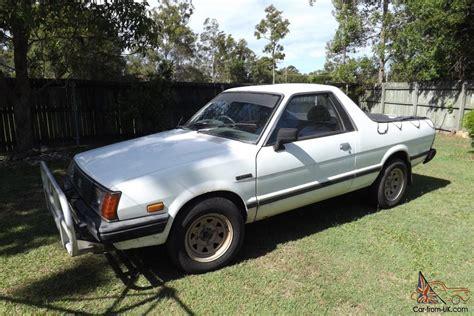 subaru ute subaru brumby ute 4x4 5 speed manual 1 8l carb 1985 in qld