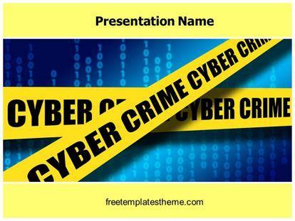 Free Cyber Crime Cell Powerpoint Template Cyber Crime Ppt Templates Free