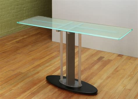 Height Of A Coffee Table modern console table glass top console stoneline designs