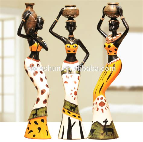 lade in resina resin figurine africa statues figures for