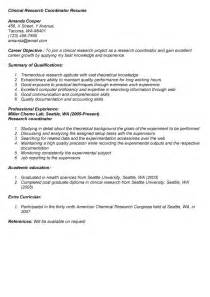 Clinical Research Coordinator Resume by Marketing Coordinator Resume Objective Sle Bestsellerbookdb