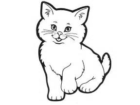 cat drawing template free coloring pages of cat outline