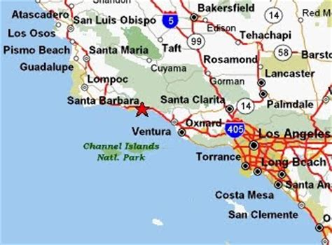 california map near santa barbara tourist map of santa barbara city pictures california