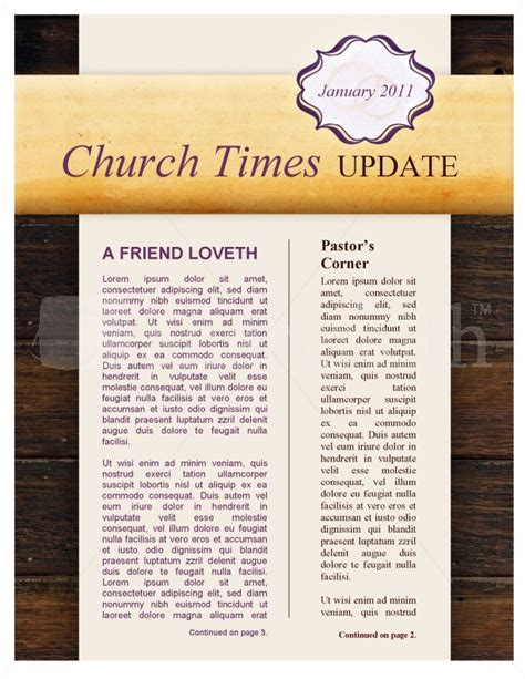 marriage church newsletter template template newsletter