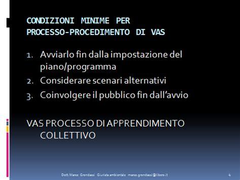 procedura vas note di grondacci sulla natura giuridica