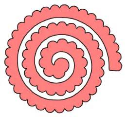 Rolled Paper Roses Template by Paper This And That Two Rolled Flower Svg Files