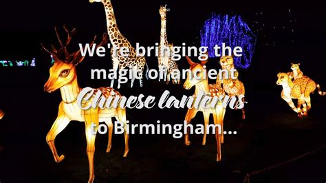 festival of light birmingham magical lantern festival birmingham youtube