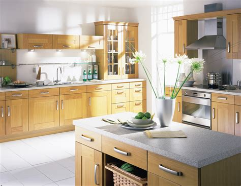 Oak Kitchen Ideas Shaker Light Oak Kitchen Design Stylehomes Net