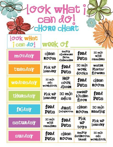 printable reward charts for adults preschool girl chore chart template jpg 1236 215 1600