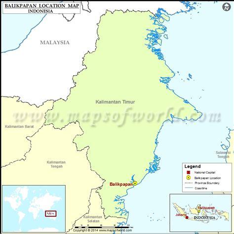 balikpapan location  balikpapan  indonesia map