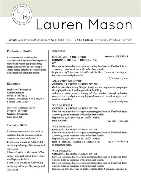 Winning Resume Templates by Winning Resume Templates For Microsoft Word Apple Pages