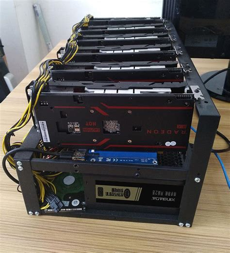 Bitcoin Mining Gpu 2 by Steel Bitcoin Miner Mining Frame Mining Rig Open Air